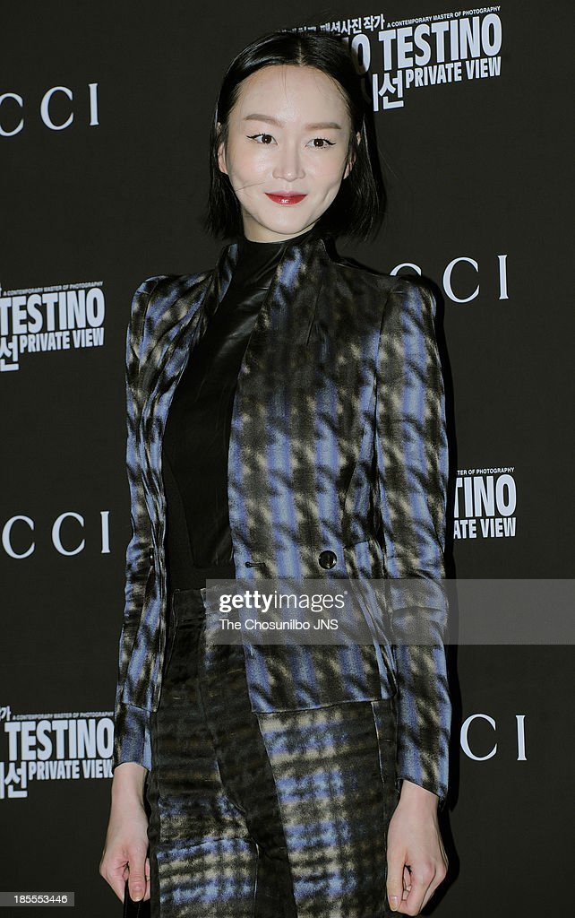 Lee Hye-Jung attends the 'Mario Testino: Private View' Photographic Exhibition Opening at GUCCI flagship store on October 18, 2013 in Seoul, South Korea.