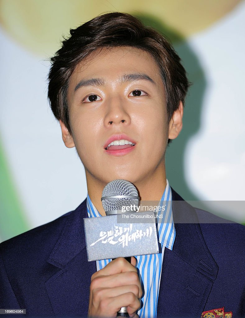 Lee HyunWoo attends the 'Secretly and Greatly' press conference at COEX Megabox on May 27 2013 in Seoul South Korea