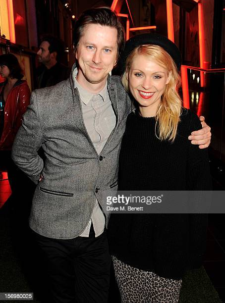 Lee Ingleby and MyAnna Buring attend the UK Premiere of 'Sightseers' in association with Stella Artois at the London Transport Museum on November 26...