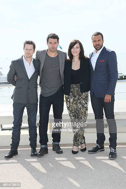 Lee Ingleby Tom Cullen Sarah Solemani and OT Fagbenle attend 'The Five' Photocall as part of MIPCOM 2015 on La Croisette on October 5 2015 in Cannes...