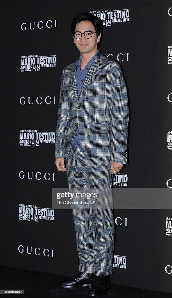 Lee Jin-Uk attends the 'Mario Testino: Private View' Photographic Exhibition Opening at GUCCI flagship store on October 18, 2013 in Seoul, South Korea.