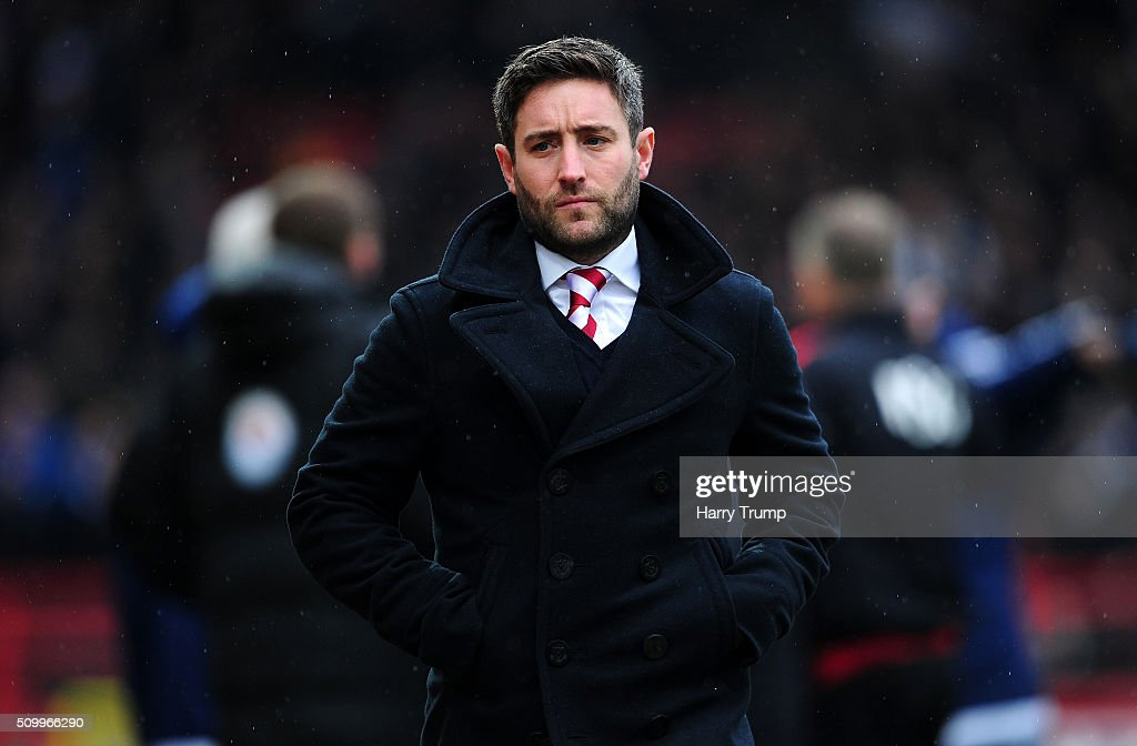 Lee Johnson, Head Coach of Bristol City during the Sky Bet Championship match between Bristol City and Ipswich Town at Ashton Gate on February 13, 2016 in Bristol, England.