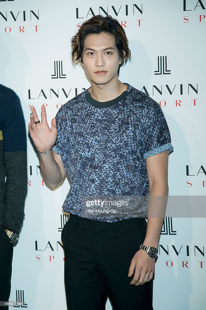 Lee Jong-Hyun of South Korean boy band CNBLUE attends 'Lanvin Sport' FW 2014 Grand Open on August 29, 2014 in Seoul, South Korea.