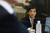 Lee Ju Yeol governor of the Bank of Korea attends a monetary policy meeting at the central bank's headquarters in Seoul South Korea on Thursday July...
