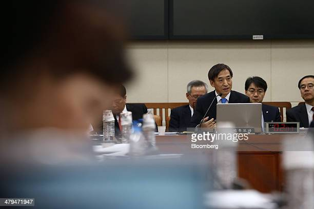 Lee Ju Yeol incoming governor of the Bank of Korea speaks during a confirmation hearing at the National Assembly in Seoul South Korea on Wednesday...