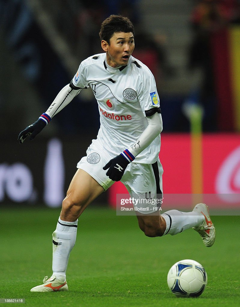 Lee Jung Soo of Al-Sadd Sports Club in action during the FIFA Club World Cup Quarter Final match between Esperance Sportive De Tunis and Al-Sadd Club at Toyota Stadium on December 11, 2011 in Toyota, Japan.