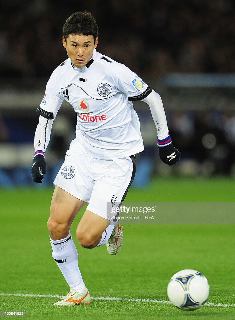 Lee Jung Soo of Al-Sadd Sports Club in action during the FIFA Club World Cup semi final match between Al-Sadd Sports Club and Barcelona at the International Yokohama Stadium on December 15, 2011 in Yokohama, Japan.