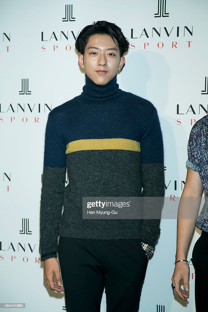 Lee Jung-Shin of South Korean boy band CNBLUE attends 'Lanvin Sport' FW 2014 Grand Open on August 29, 2014 in Seoul, South Korea.