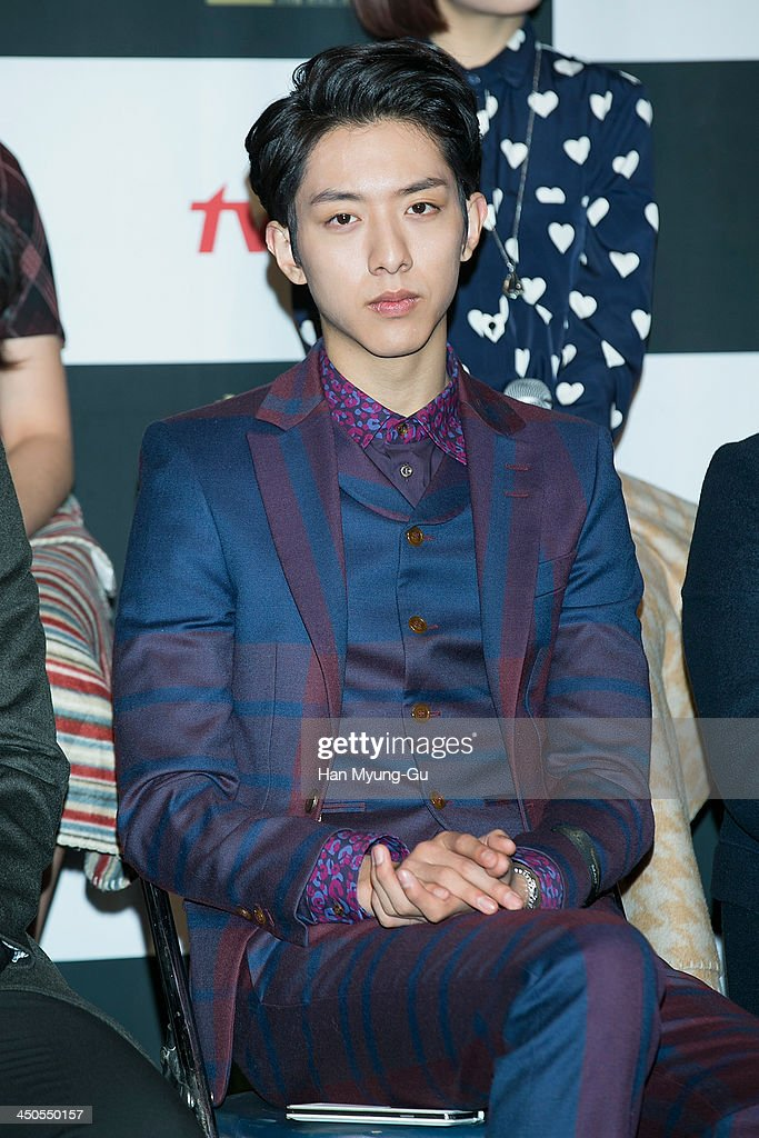 Lee Jung-Shin of South Korean boy band CNBLUE attends tvN Drama 'Cheongdamdong 111' press conference at CGV on November 18, 2013 in Seoul, South Korea. The drama will open on November 21, in South Korea.