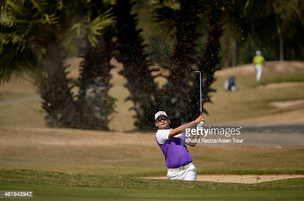 Lee Junseok of Australia in action during round two of the Asian Tour Qualifying School presented by Sports Authority of Thailand at the Springfield...