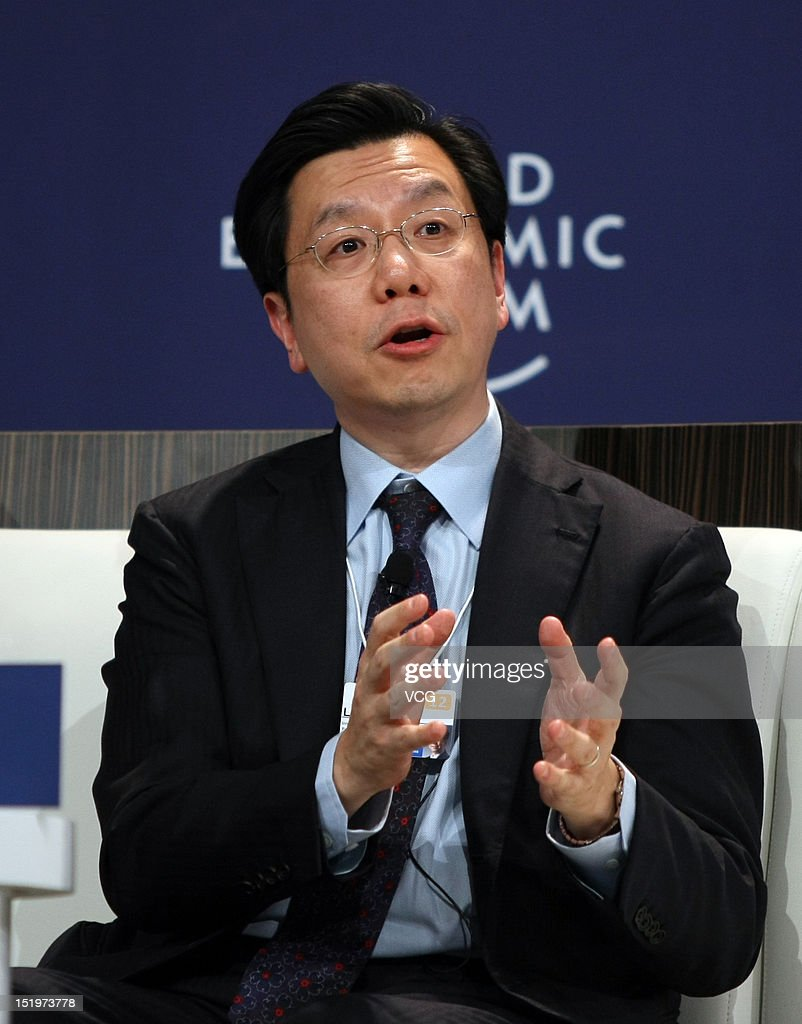 Lee Kai-Fu, Chairman and Chief Executive Officer of Innovation Works Management, attends the interactive session 'The Future Is Now' during the 2012 Tianjin Summer Davos at Meijiang Convention and Exhibition Center on September 13, 2012 in Tianjin, China. World Economic Forum 2012 Tianjin Summer Davos will be held from September 11 to 13, with the theme of 'Creating Future Economy'.