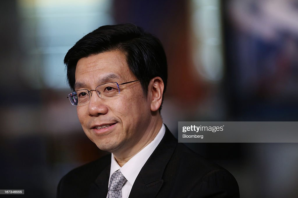 Lee Kai-Fu, chairman and chief executive officer of Innovation Works, smiles during a Bloomberg Television interview in New York, U.S., on Wednesday, April 24, 2013. Lee discussed Google Inc.'s withdrawal from China and the relationship between social media, innovation and censorship. Photographer: Victor J.Blue/Bloomberg via Getty Images