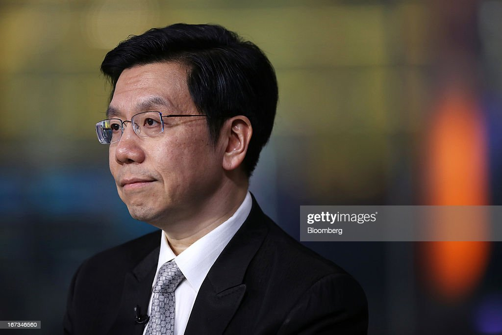 Lee Kai-Fu, chairman and chief executive officer of Innovation Works, pauses during a Bloomberg Television interview in New York, U.S., on Wednesday, April 24, 2013. Lee discussed Google Inc.'s withdrawal from China and the relationship between social media, innovation and censorship. Photographer: Victor J.Blue/Bloomberg via Getty Images