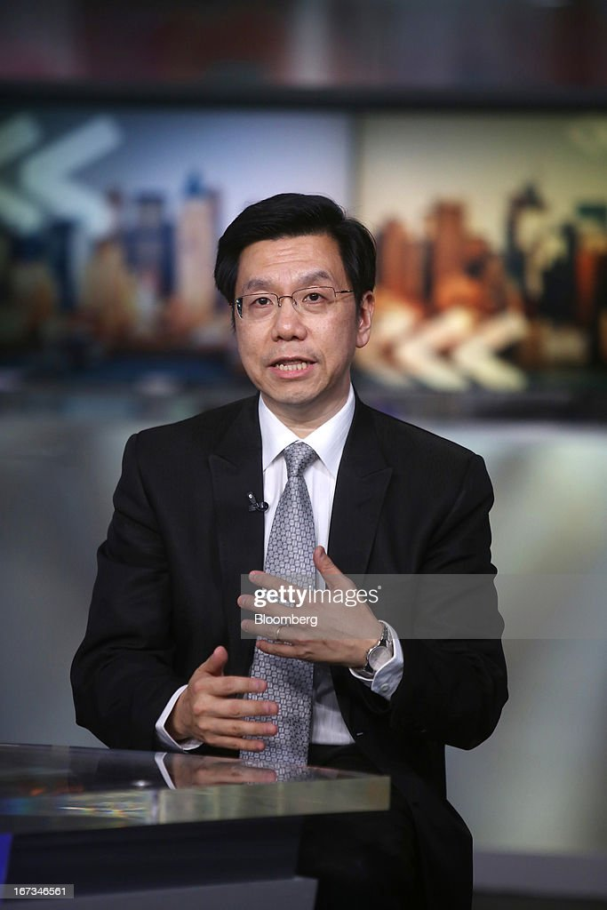 Lee Kai-Fu, chairman and chief executive officer of Innovation Works, speaks during a Bloomberg Television interview in New York, U.S., on Wednesday, April 24, 2013. Lee discussed Google Inc.'s withdrawal from China and the relationship between social media, innovation and censorship. Photographer: Victor J.Blue/Bloomberg via Getty Images