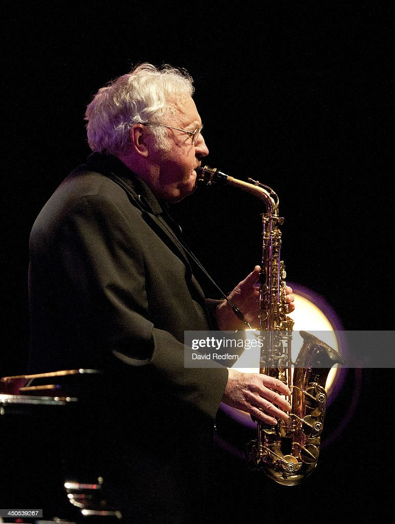 Lee Konitz performs on stage during day 4 of London Jazz Festival at Royal Festival Hall on November 18, 2013 in London, United Kingdom.