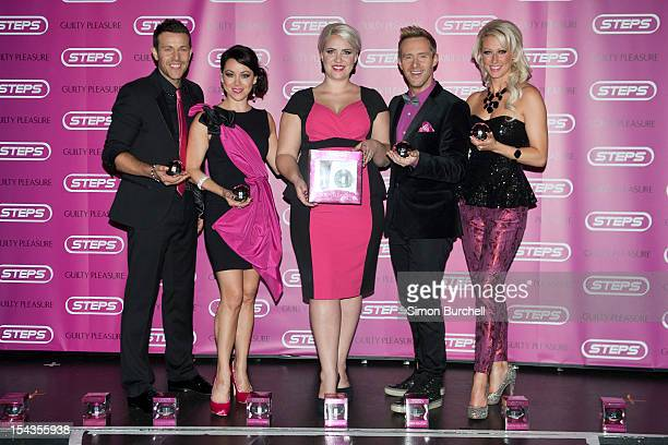 Lee Latchford Evans Lisa Scott Lee Claire Richards Ian H Watkins and Faye Tozer attend the Steps perfume launch at Cafe de Paris on October 18 2012...