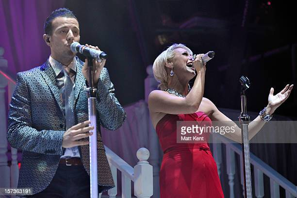 Lee LatchfordEvans and Faye Tozer of Steps perform at London Palladium on December 2 2012 in London England