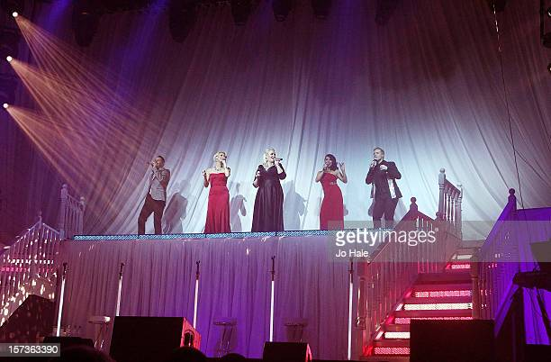 Lee LatchfordEvans Faye Tozer Claire Richards Lisa ScottLee and Ian 'H' Watkins of Steps perform at London Palladium on December 2 2012 in London...