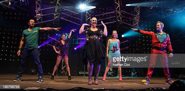 Lee LatchfordEvans Lisa ScottLee Claire Richards Faye Tozer and Ian 'H' Watkins of Steps perform at Manchester Pride 2012 on August 24 2012 in...