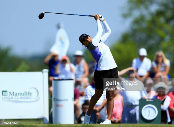 Lee Lopez of the USA hits her tee shot on the 1st hole during the third round of the Manulife LPGA Classic at Whistle Bear Golf Club on June 10 2017...