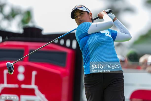 Lee Lopez tees off on the 1st hole during the second round of the Canadian Pacific Women's Open on August 25 2017 at The Ottawa Hunt and Golf Club in...