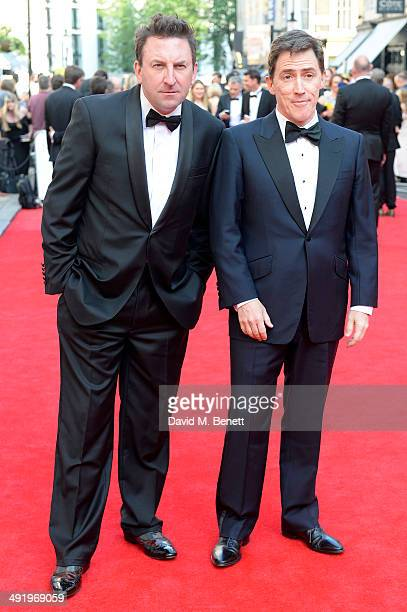 Lee Mack and Rob Brydon attends the Arqiva British Academy Television Awards at Theatre Royal on May 18 2014 in London England