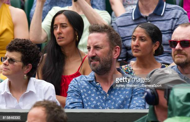 Lee Mack at Centre Court for the Gentlemen's Singles Final at Wimbledon on July 16 2017 in London England