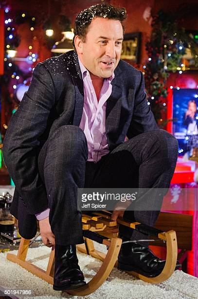 Lee Mack during a live broadcast of 'TFI Friday' on December 18 2015 in London England