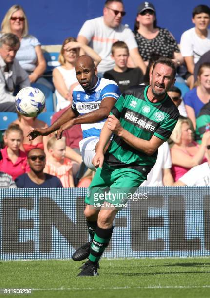 Lee Mack during the #GAME4GRENFELL at Loftus Road on September 2 2017 in London England The charity football match has been set up to benefit those...