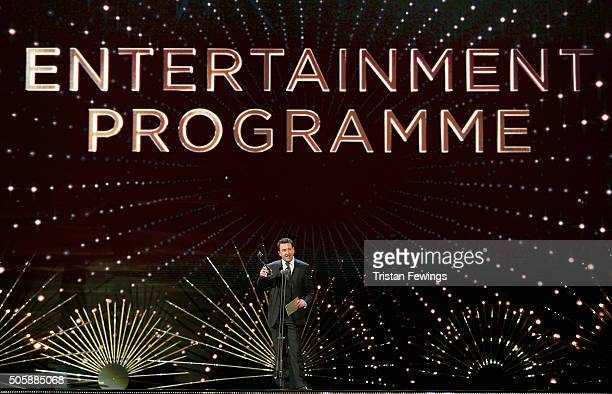 Lee Mack presents the award for Best Entertainment Programme at the 21st National Television Awards at The O2 Arena on January 20 2016 in London...