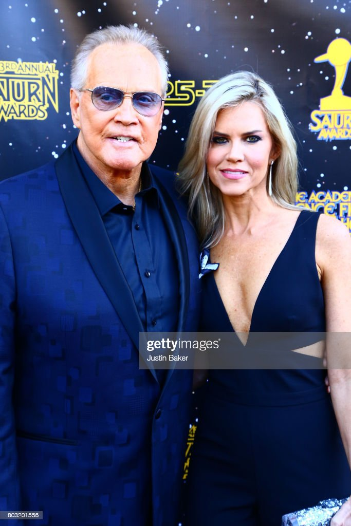 Lee Majors and Faith Majors attend the 43rd Annual Saturn Awards at The Castaway on June 28, 2017 in Burbank, California.