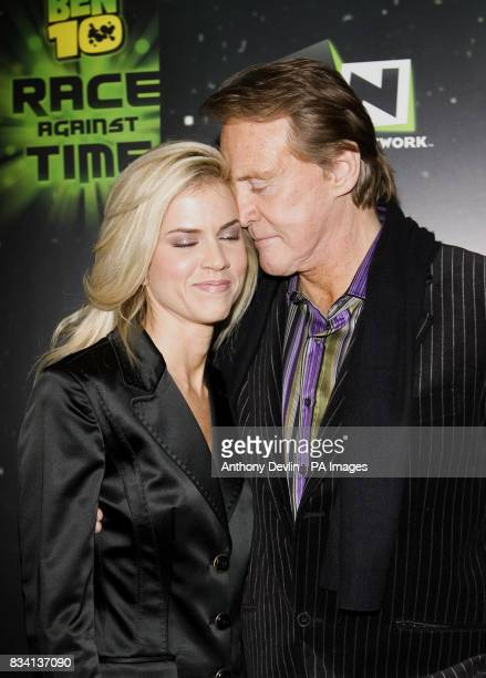 Lee Majors and wife arrive for the premiere of 'Ben 10 Race Against Time' at the Vue in Leicester Square London