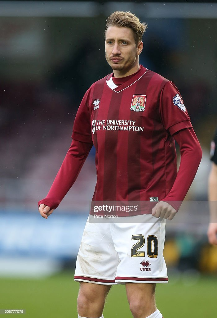 Lee Martin of Northampton Town in action during the Sky Bet League Two match between Northampton Town and York City at Sixfields Stadium on February 6, 2016 in Northampton, England.