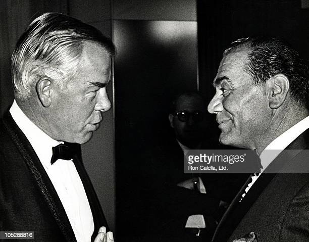 Lee Marvin and Ernest Borgnine during 'The Dirty Dozen' New York City Premiere After Party at American Hotel in New York City New York United States