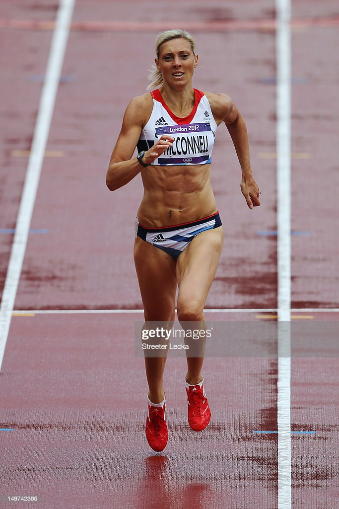 <a gi-track='captionPersonalityLinkClicked' href=/galleries/search?phrase=Lee+McConnell&family=editorial&specificpeople=162784 ng-click='$event.stopPropagation()'>Lee McConnell</a> of Great Britain competes in the Women's 400m Heats on Day 7 of the London 2012 Olympic Games at Olympic Stadium on August 3, 2012 in London, England.