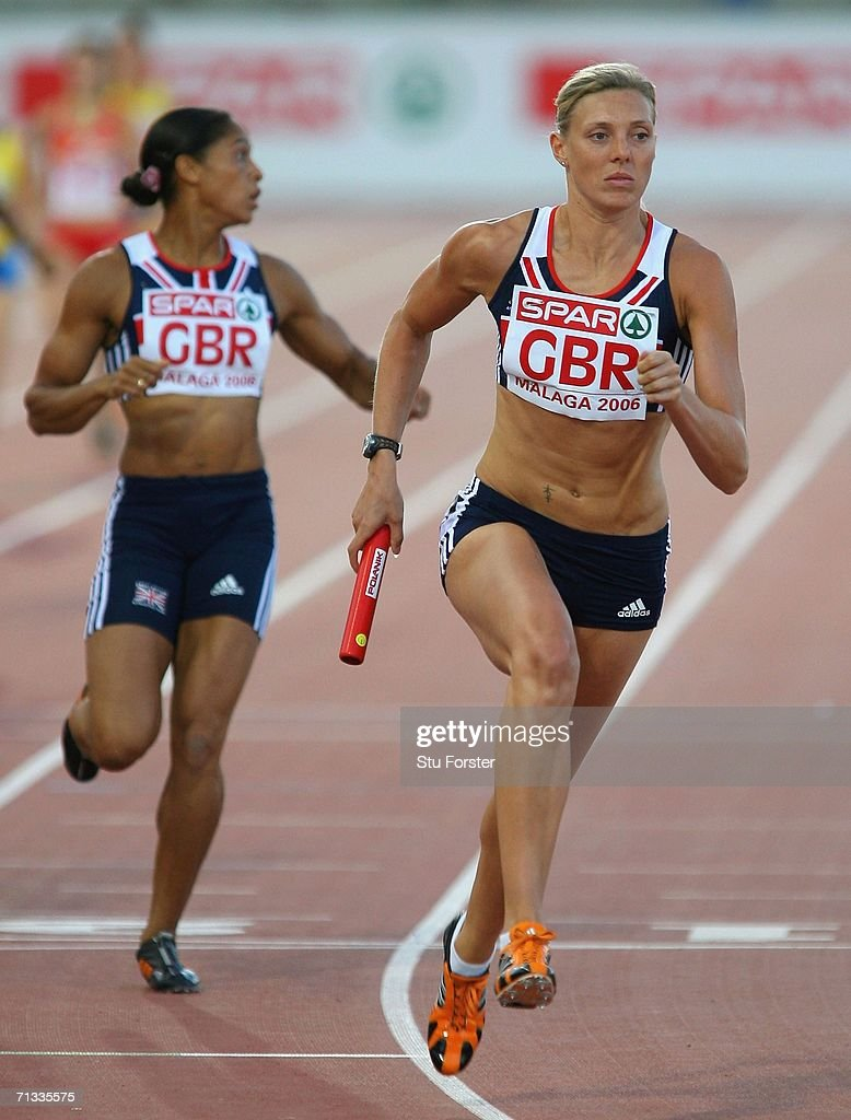 <a gi-track='captionPersonalityLinkClicked' href=/galleries/search?phrase=Lee+McConnell&family=editorial&specificpeople=162784 ng-click='$event.stopPropagation()'>Lee McConnell</a> of Great Britain in action in the Women's 4x400 Metres relay during the Spar European Cup 2006 at the Ciudad de Malaga Athletics Stadium on June 29, 2006 in Malaga, Spain.