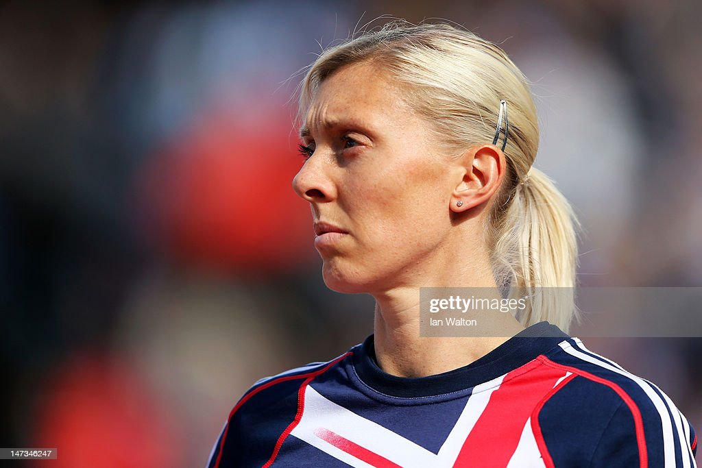 <a gi-track='captionPersonalityLinkClicked' href=/galleries/search?phrase=Lee+McConnell&family=editorial&specificpeople=162784 ng-click='$event.stopPropagation()'>Lee McConnell</a> of Great Britain looks on prior to the Women's 400 Metres Semi Finals during day two of the 21st European Athletics Championships at the Olympic Stadium on June 28, 2012 in Helsinki, Finland
