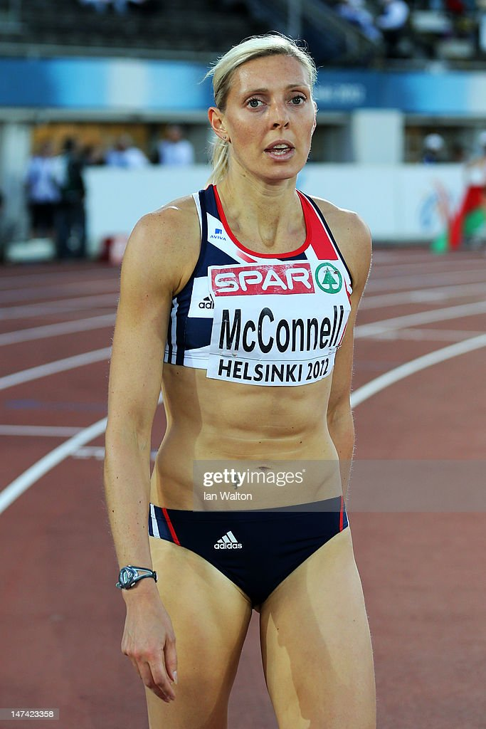 <a gi-track='captionPersonalityLinkClicked' href=/galleries/search?phrase=Lee+McConnell&family=editorial&specificpeople=162784 ng-click='$event.stopPropagation()'>Lee McConnell</a> of Great Britain reacts after the Women's 400m Final during day three of the 21st European Athletics Championships at the Olympic Stadium on June 29, 2012 in Helsinki, Finland.