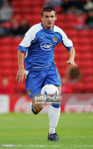 Lee McCulloch of Wigan Athletic in action during the Preseason Friendly match between Barnsley and Wigan Athletic at Oakwell on August 1 2006 in...