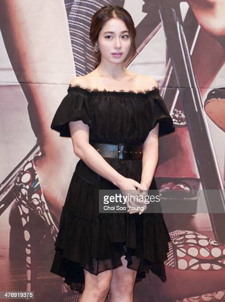 Lee MinJung attends the MBC drama 'Sly and Single Again' press conference at The Raum on February 24 2014 in Seoul South Korea