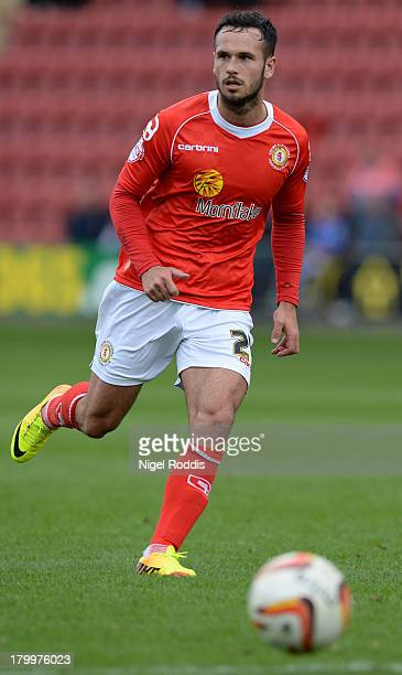 Lee Molyneux of Crewe Alexanders during their Sky Bet League One match against Peterborough United at the Alexandra Stadium on September 7 2013 in...