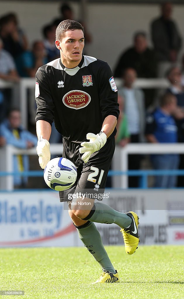 Lee Nicholls of Northampton Town in action during the npower League Two match between Rochdale and Northampton Town at Spotland Stadium on August 18, 2012 in Rochdale, England.