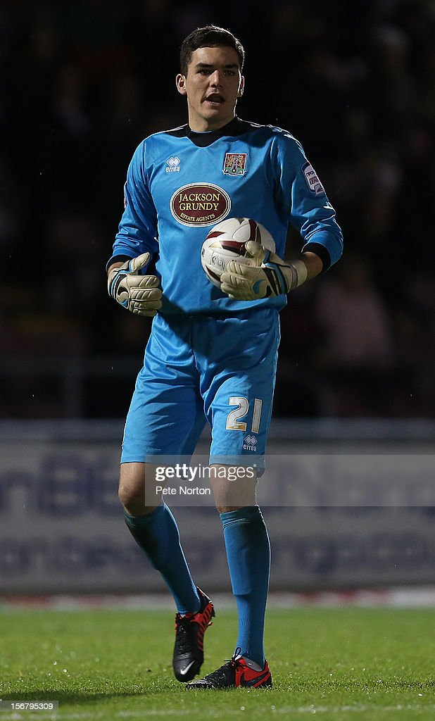 Lee Nicholls of Northampton Town in action during the npower League Two match between Northampton Town and Morecambe at Sixfields Stadium on November 20, 2012 in Northampton, England.