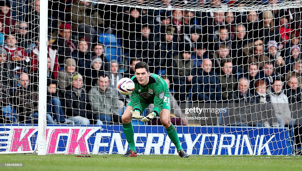 Lee Nicholls of Northampton Town in action during the npower League Two match between Chesterfield and Northampton Town at the Proact Srtadium on January 12, 2013 in Chesterfield, England.