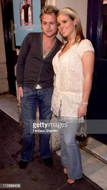 Lee Otway and Michelle Bass during 'One Flew Over The Cuckoo's Nest' London Press Night Arrivals at Garrick Theatre in London Great Britain