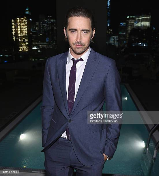 Lee Pace attends The Cinema Society with Men's Fitness and FIJI Water special screening of Marvel's 'Guardians of the Galaxy' after party at The...