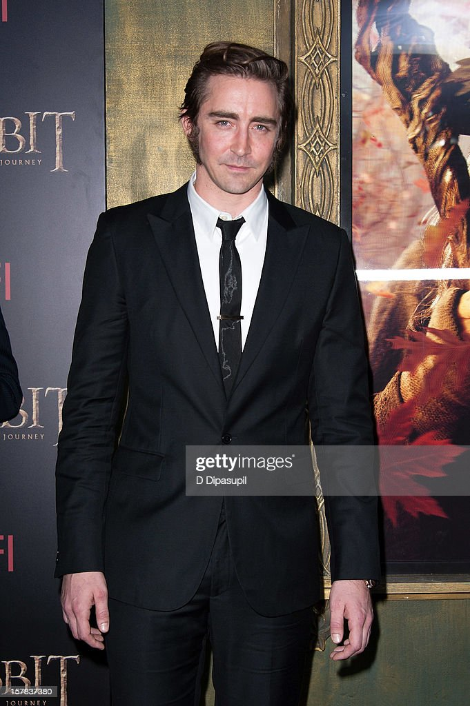 Lee Pace attends 'The Hobbit: Unexpected Journey' premiere at the Ziegfeld Theater on December 6, 2012 in New York City.