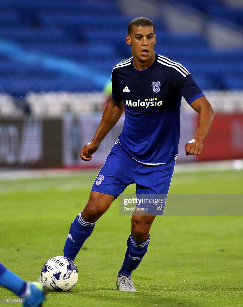 <a gi-track='captionPersonalityLinkClicked' href=/galleries/search?phrase=Lee+Peltier&family=editorial&specificpeople=1007594 ng-click='$event.stopPropagation()'>Lee Peltier</a> of Cardiff City during the pre season friendly match between Cardiff City and Watford at Cardiff City Stadium on July 28, 2015 in Cardiff, Wales, United Kingdom.