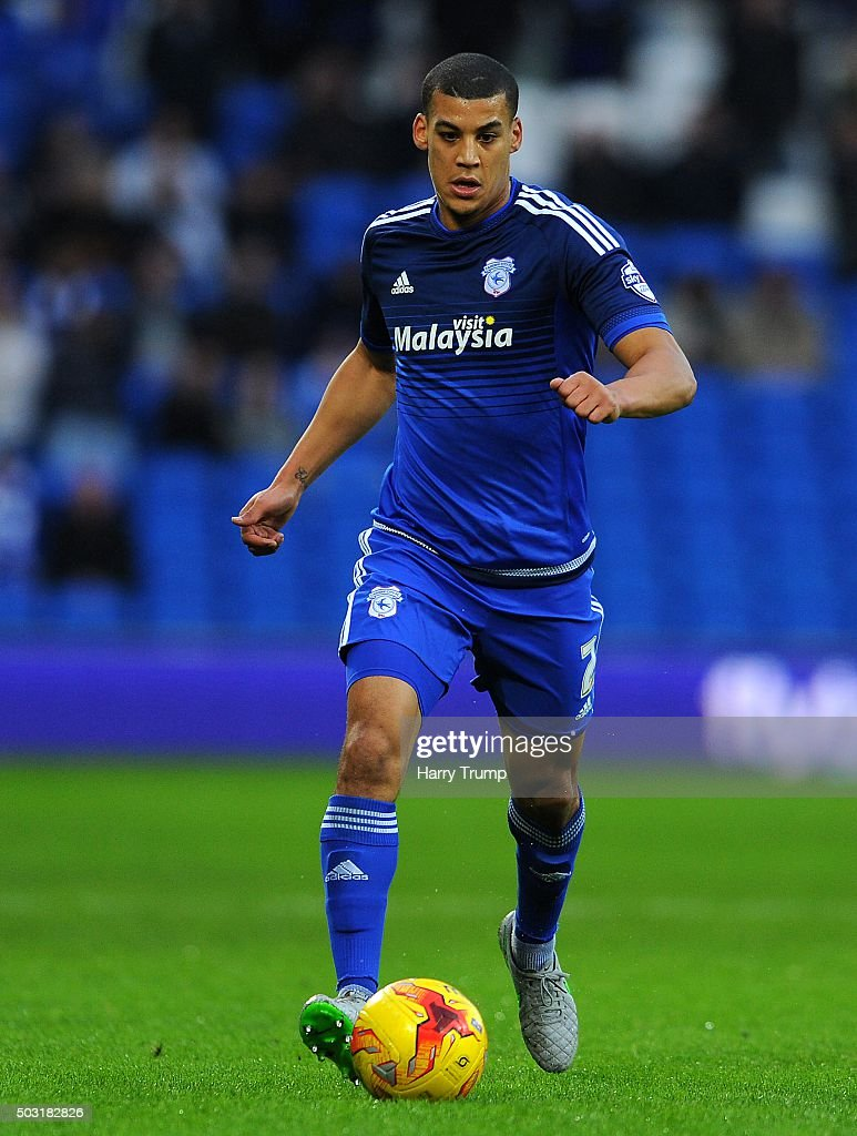 <a gi-track='captionPersonalityLinkClicked' href=/galleries/search?phrase=Lee+Peltier&family=editorial&specificpeople=1007594 ng-click='$event.stopPropagation()'>Lee Peltier</a> of Cardiff City during the Sky Bet Championship match between Cardiff City and Blackburn Rovers at the Cardiff City Stadium on January 2, 2016 in Cardiff, Wales.