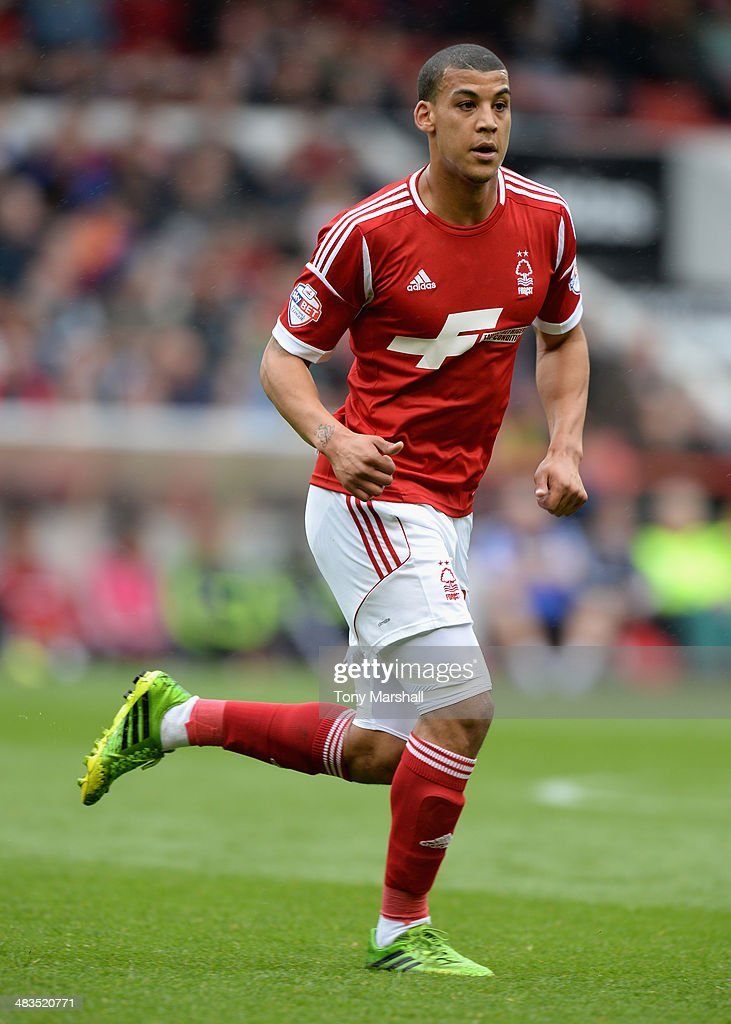 <a gi-track='captionPersonalityLinkClicked' href=/galleries/search?phrase=Lee+Peltier&family=editorial&specificpeople=1007594 ng-click='$event.stopPropagation()'>Lee Peltier</a> of Nottingham Forest during the Sky Bet Championship match between Nottingham Forest and Millwall at City Ground on April 05, 2014 in Nottingham, England,